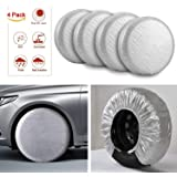 Caravan and motorhome wheel cover complete with pegs
