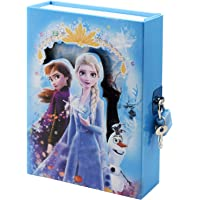 Asera Princess Frozen Secret Lock Diary for Girls Gifts Options (Small Size 16.5*13*3 cm)
