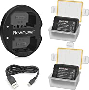 Newmowa NP-FZ100 Battery (2-Pack) and Dual USB Charger for Sony NP-FZ100, BC-QZ1Sony A7RIII A7R3, Sony a7 III,Sony Alpha 9,So