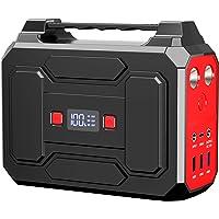 Powkey Tragbare Powerstation 99Wh/27000mAh 100W Solar Generatoren mit AC/USB/DC Ausgabe, Eingebauter LED-Licht, für die…