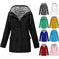 Rainproof Coat, Waterproof Jackets For Women, Ladies Rain Coats Hoodies, Long Sleeve Fashion Outdoor Sunscreen Jacket…