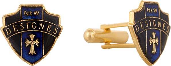 A Little Swag Stylish Victorian Royal Premium Cufflinks for Mens and Genuine Branded Products (Navy Blue)