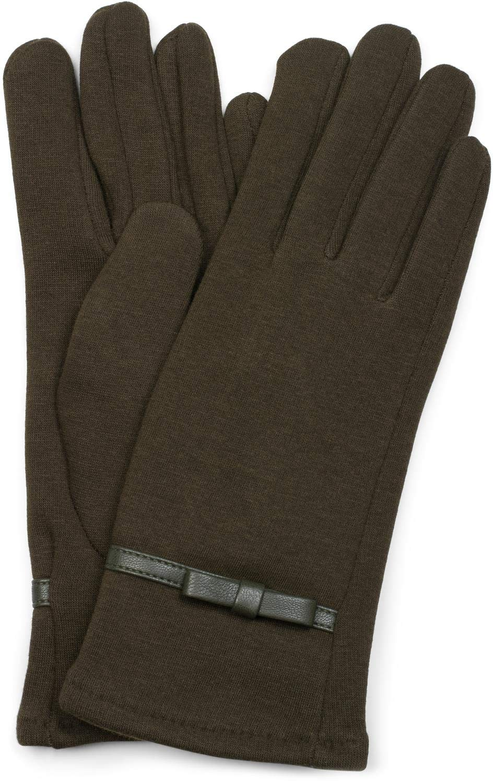 f223b83bbc0a7e styleBREAKER Damen Handschuhe mit Schleifen Detail und Fleece Futter, Winter  09010015