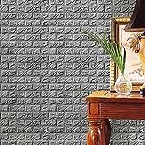 Zolimx Wandtattoo Wandsticker PE Schaum 3D Tapete DIY Wandaufkleber Wand Dekor Geprägte Ziegelstein Wohnzimmer Schlafzi