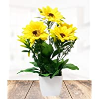 Litleo Artificial Flower with Pot (Yellow)