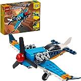 LEGO Creator 3 in 1 Aereo a Elica, Aeroplano ed Elicottero Giocattolo, Mattoncini da Costruzione, Giochi per Bambini Maschio