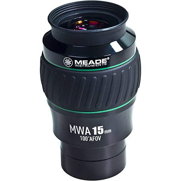 Black//Green MWA 15MM 2-Inch Meade Instruments 607017 Eyepiece 100 Degree