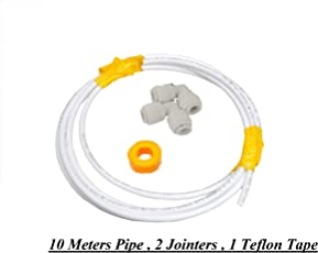 """PSI 1/4"""" Pipe Tube 10 mtrs with 2 Jointers for Domestic RO UV Water Purifiers(White)"""