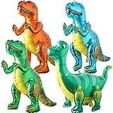 BESTZY 4 Pièces 3D Ballons de Dinosaure Ballons Ballon Dinosaure en Forme de Dinosaure Décoration pour fête de Dinosaures de