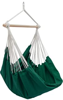 Lightweight and Portable - Cream Dawsons Living Fabric Hanging Swing Chair Hanging Hammock Chair for Indoor and Outdoor