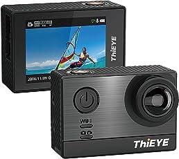 ThiEYE T5e 4k Wifi Action Cam (16MP, 5,08 cm (2,0 Zoll) Display, Sony Sensor, 60m Wasserdicht, 170° Weitwinkel) Schwarz