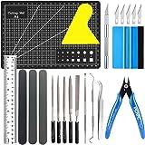 22 pec gör-det-själv hantverks verktygssats vinyl ogräs modell verktyg plotter tillbehör rutnät krok pincett spatel siluett +