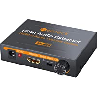 Neoteck HDMI Audio Extractor 4K DAC HDMI Audio Extractor with Volume Adjustment HDMI to…