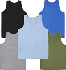 Kids Basket Boys 100% Pure Cotton Kids Color Vest Innerwear ( Pack Of 5) - Regular Use
