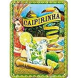 Nostalgic-Art 26145 Plaque Vintage Caipirinha – Idée de Cadeau comme Accessoire de Bar, en métal, Design Retro pour la décora
