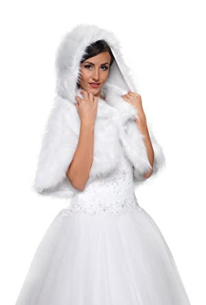 Cape blanche pour robe de mariee