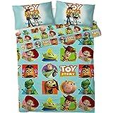 Disney Toy Story Parure de lit réversible pour lit Simple Bleu