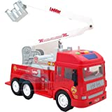 FunBlast Pull Back Vehicles Fire Rescue Truck, Friction Power Toy Trucks for 3+ Years Old Boys and Girls | JCB Toy for…