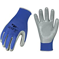 Vgo 3Pairs/5Pairs/10Pairs Safety Work Gloves,Gardening Gloves,Non-Slip Nitrile coating,Dipping Gloves(NT2110)