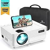 Videoprojecteur, VANKYO Supporte 1080P Full HD Projecteur 5000 Lumens Retroprojecteur Portable Multimédia Home Cinéma…