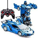 Transformerande leksaker 2 i 1 fjärrkontroll transformator bil RC bil för barn deformering robot billeksaker för pojkar i åld