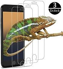 Panzerglas Schutzfolie für iPhone 6/iPhone7/iPhone8,Ultra Clear, Anti-Kratzer, Blasenfrei, 9H Härtegrad ,iPhone 6/7/8 Panzerglasfolie [3 Stück].