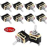 2 Positions 2 Broches Interrupteur /À Bascule Universel AC125V 10A NATEE 10pcs Interrupteur /à Bascule SPST Interrupteur /à Levier