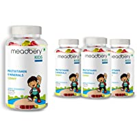 Meadbery Multivitamin and Mineral Gummy Bears Gluten-Free Formula with Minerals and Vitamins B; C; D; E; B12; B6 for…