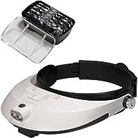 Lysignal testa lente d' ingrandimento con lampada LED luce lente di ingrandimento ingrandimento Headset per la…