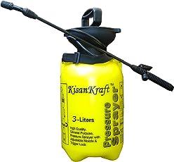 Kisan Kraft Hand Pressure Sprayer 3 Liter Compressed Air Sprayer Garden Sprayer