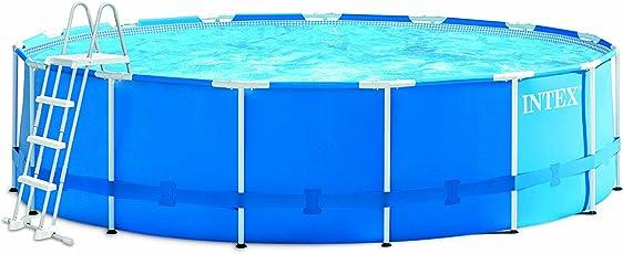 Intex Metal Frame Pool Set, blau, Ø 457 x 122 cm