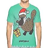 Boys Christmas Platypus Popular 3D Creative Print T-Shirt Short Sleeve Tees