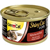 GimCat 414591 ShinyCat in Jelly Pollo con Vacuno, 24 x 70 g, 1680