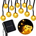 Globe Solar Lights Outdoor Solar Powered Fairy Lights 30 LED Crystall Ball Warm White for Holiday Decorations Party Patio...