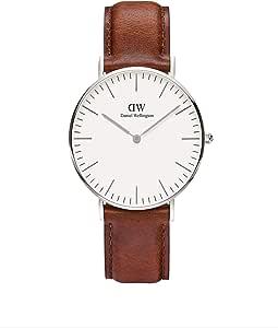 Daniel Wellington Damen Analog Quarz Smart Watch Armbanduhr mit Leder Armband DW00100052