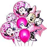 Hilloly 16 PCS Palloncini Party,Decorazioni per Feste di Compleanno Palloncini Minnie,Forniture per Feste di Compleanno per B