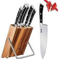 Aicok Ensemble de couteaux, Couteaux de chef avec bloc en bois, Set de couteaux professionnels, Lot de couteaux en acier…