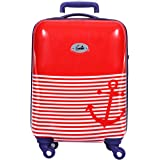 Genie Polycarbonate 55 cms Red Hard Sided Carry-On (Marina PC 21 Red)