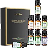 VicTsing Set de Regalo Essential Aceite (8 x 10 ml), Aceites 100% Puros para Difusores de Aceite: Lavanda, Limoncillo, Arbol