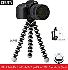 "Ceuta Retails,Gorilla Tripod 13"" inch High Quality Mobile Attachment for DSLR, Action Cameras, Digital Cameras Big Gorilla Tripod Stand"