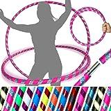 PRO Hoelahoepels (Ultra-Grip/Glitter Deco) Gewogen TRAVEL Hoelahoep (100cm/39') Hoelahoepels voor oefening, dans en fitness!