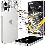 EGV Compatibile con iPhone 12 Pro Protector de Pantalla,3 Pack Cristal Templado e 3 Pack Protector de Lente de Cámara Transpa