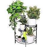 Aafiya handicrafts® Metal Plant Stand Flower Holder Racks 4 Tier Shelves Patio Indoor Outdoor Garden Displaying Wrought Iron
