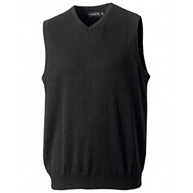 Russell 716M Mens V Neck Sleeveless Knitted Pullover Sweater ...