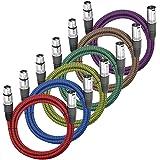 LoongGate Premium XLR męski na żeński 3-pinowy wtyk nylonowy pleciony profesjonalny mikrofon zrównoważony kabel audio do nagr