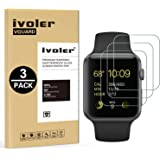 iVoler [Lot de 3] Verre Trempé pour Apple Watch 38mm Series 3/2 / 1, Film Protection en Verre trempé écran Protecteur pour Apple Watch 38mm Series 1 2015 / Series 2 2016 / Series 3 2017