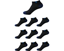 Running Socks for Men Women Ankle Athletic Trainer Socks Low Cut Sports Socks,Multi Coloured Cushioned Trainer Sports Socks,