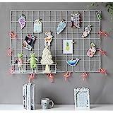 GBYAN Panel de rejilla de pared, 2 unidades, para colgar fotos, organizador de pared, multifuncional, color blanco