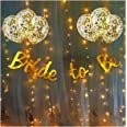 Party Propz Bride To Be Decoration Kit Set - 10Pcs With Bride To Be Banner, Confetti Balloon and Led Fairy Light/Bridal Showe