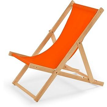 Chaise longue de jardin en bois - Fauteuil Relax - Chaise de plage ...